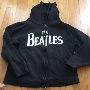 Black zip Up The Beatles Hoodie